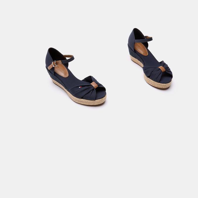 Sandales compensées tommy-hilfiger, Bleu, 669-9202 - 16