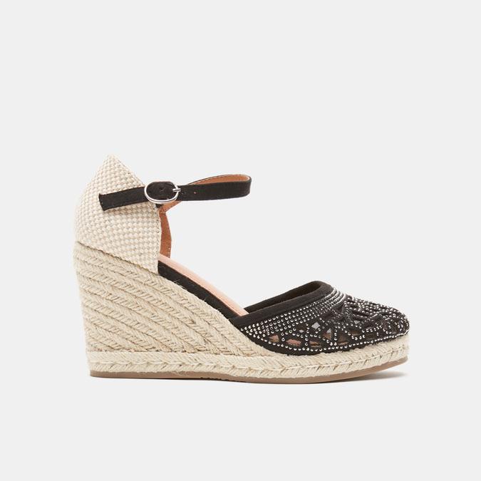 Sandales compensées bata, Noir, 769-6962 - 13