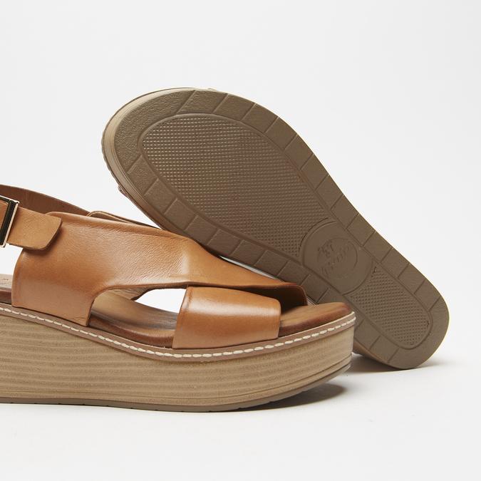 Sandales à plateforme bata, Brun, 764-3966 - 19