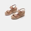 Sandales compensées bata, Jaune, 769-8960 - 16