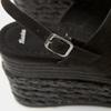 Sandales compensées bata, Noir, 769-6960 - 16