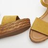 Sandales compensées bata, Jaune, 763-8938 - 26