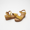 Sandales compensées bata, Jaune, 763-8938 - 16
