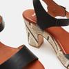 Sandales à talon large et à plateforme bata, Noir, 761-6866 - 26