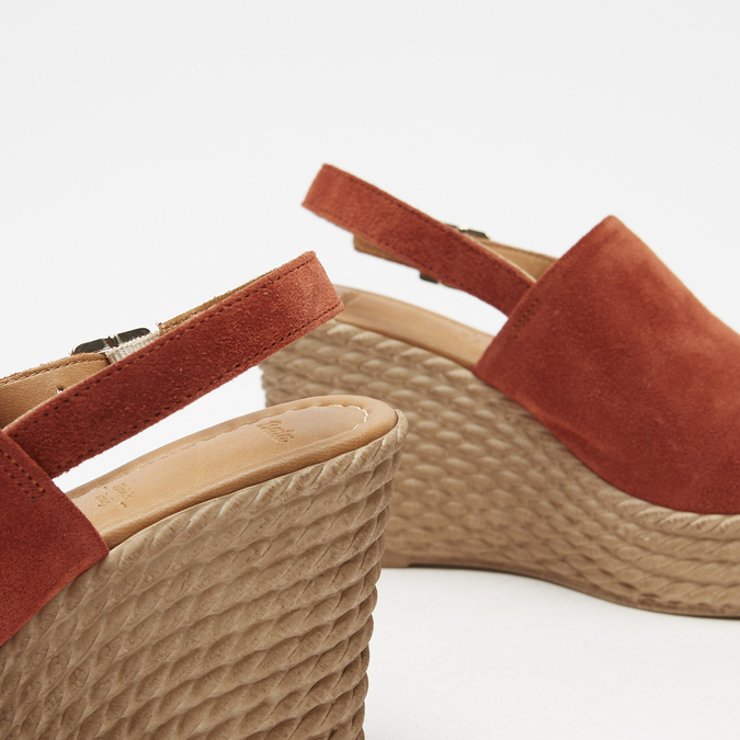 Sandales à plateforme bata, Brun, 763-4125 - 17