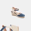Sandales compensées bata, Bleu, 769-9871 - 19