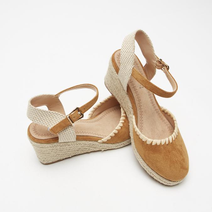 Sandales compensées bata, Brun, 769-3871 - 19