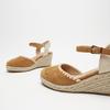 Sandales compensées bata, Brun, 769-3871 - 16