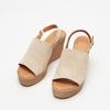 Sandales à plateforme bata, Beige, 763-8125 - 26