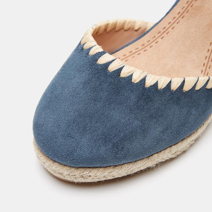 Sandales compensées bata, Bleu, 769-9871 - 26