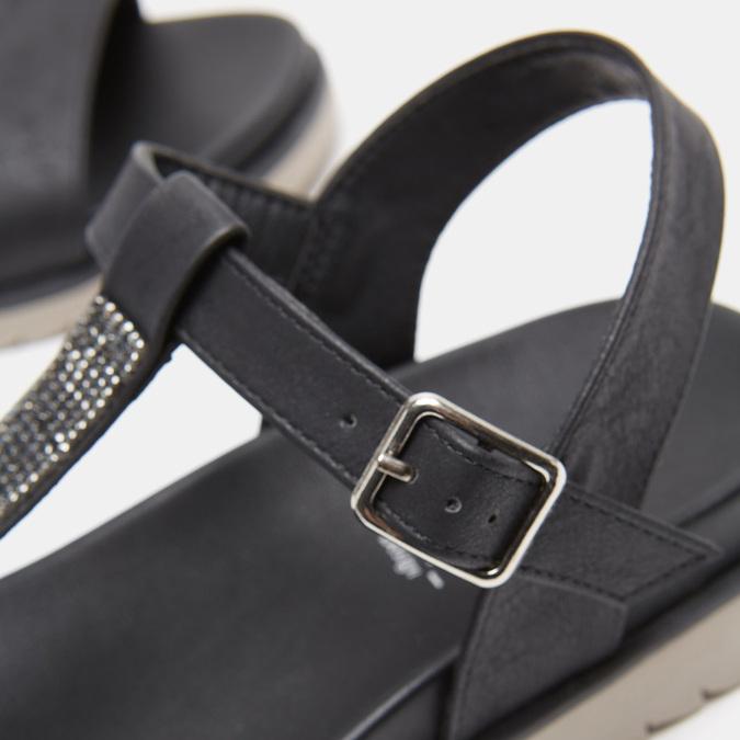 Sandales à bride bata, Noir, 561-6705 - 17