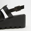 Sandales à plateforme bata, Noir, 764-6130 - 15