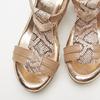 Sandales à plateforme bata, Or, 764-5153 - 17