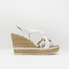 Sandales à plateforme bata, Blanc, 764-1158 - 13