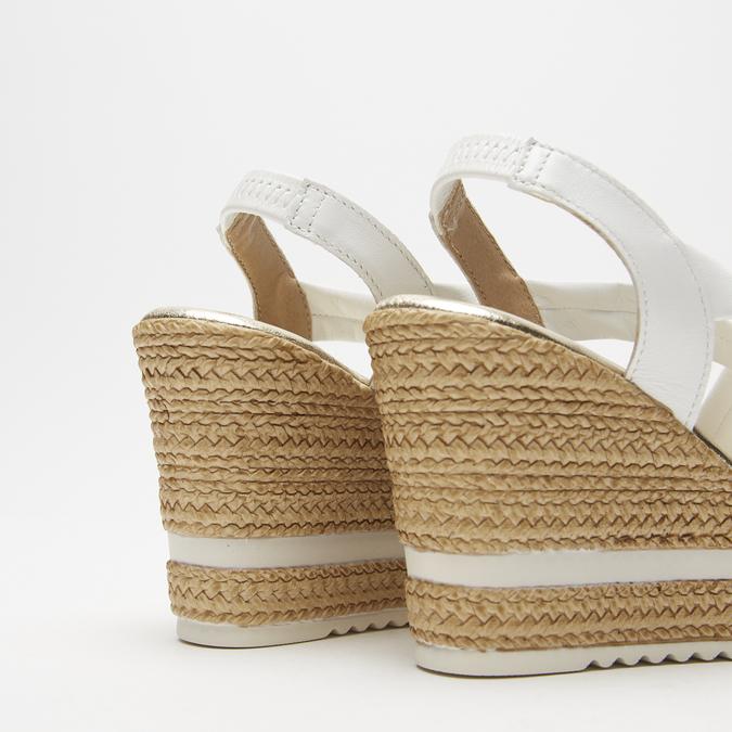 Sandales à plateforme bata, Blanc, 764-1158 - 19