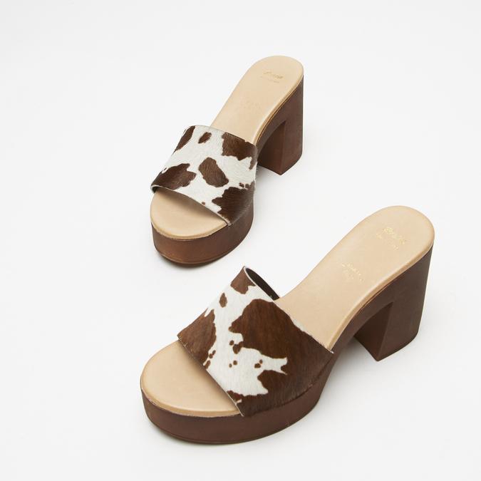 Sandales à plateforme bata, Brun, 764-4177 - 16