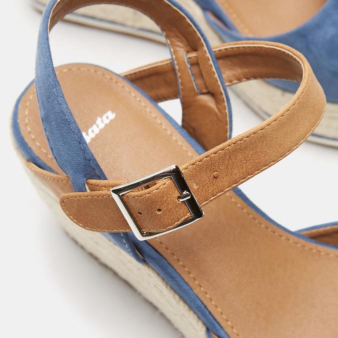 Sandales compensées bata, Bleu, 769-9912 - 16