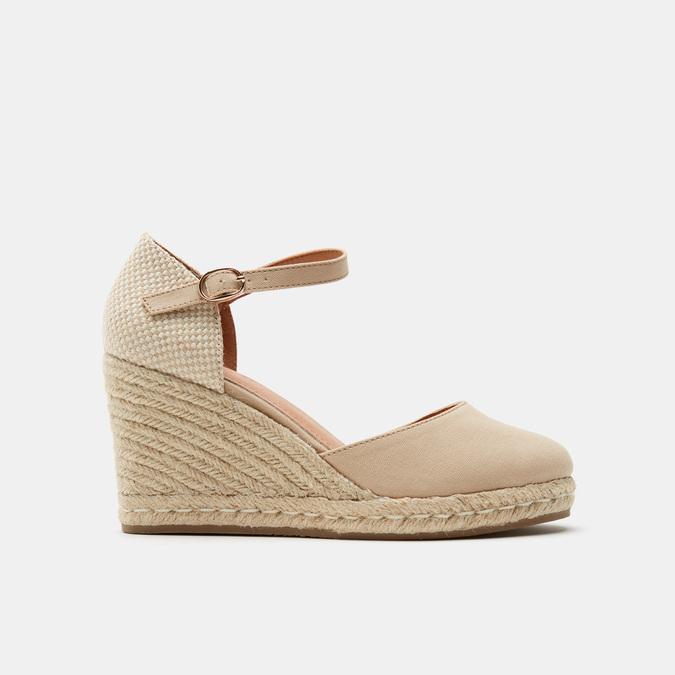 Sandales compensées bata, Beige, 769-8921 - 13