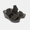 Sandales compensées bata, Noir, 769-6924 - 26