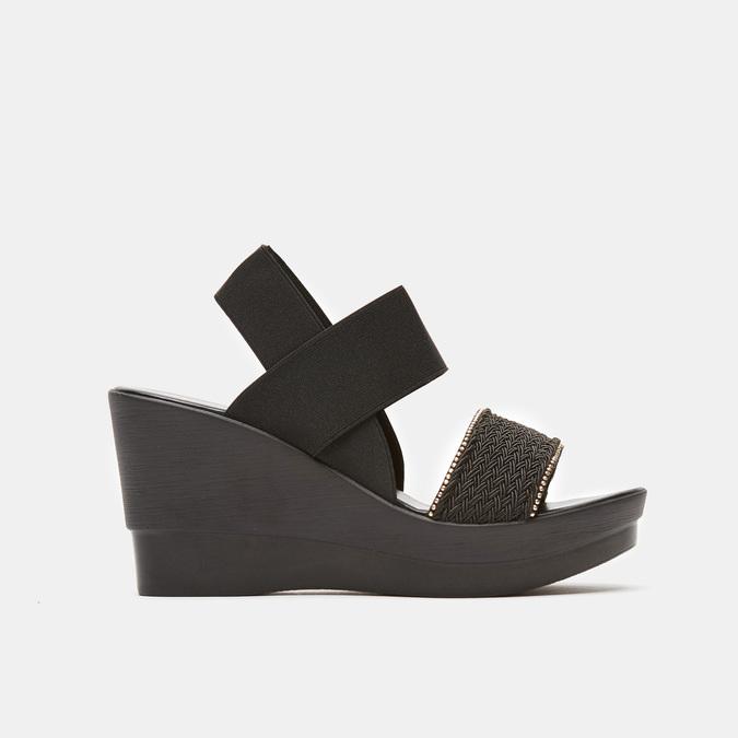 Sandales compensées bata, Noir, 769-6924 - 13