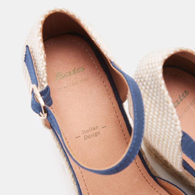 Sandales compensées bata, Bleu, 769-9921 - 16