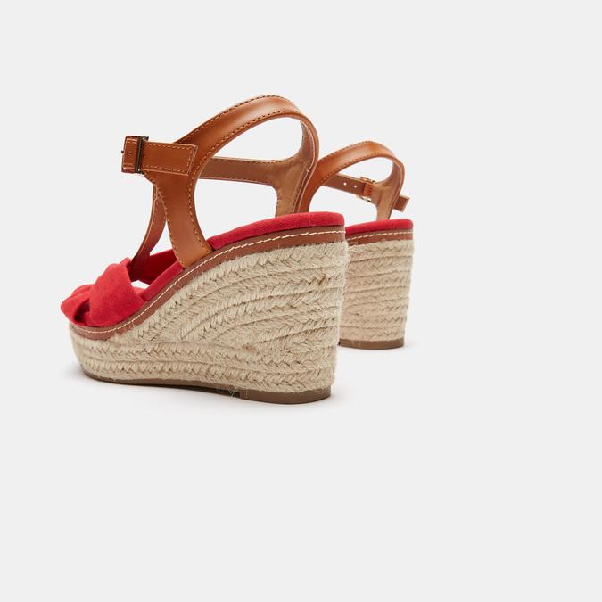 Sandales compensées bata, Rouge, 769-5913 - 16