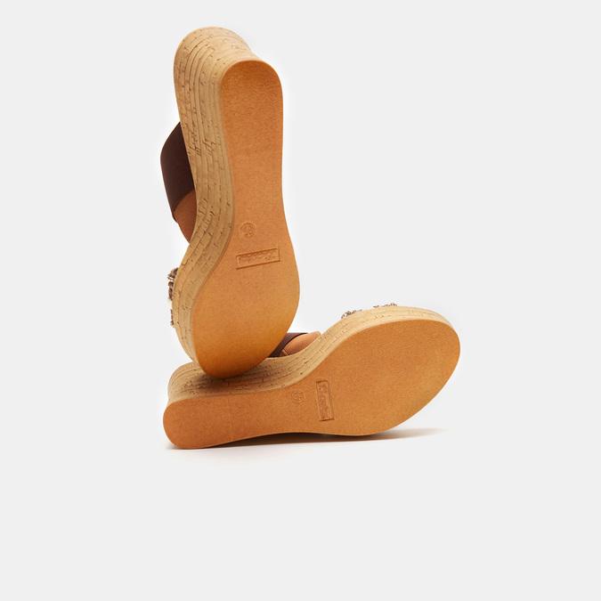Sandales compensées bata, Brun, 769-3925 - 17
