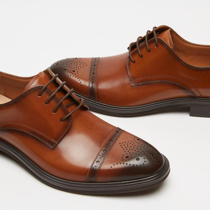 chaussures basses en cuir homme bata, Brun, 824-3172 - 16