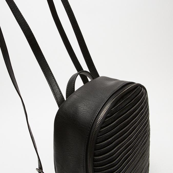 sac à dos à effet matelassé visible bata, Noir, 961-6188 - 16