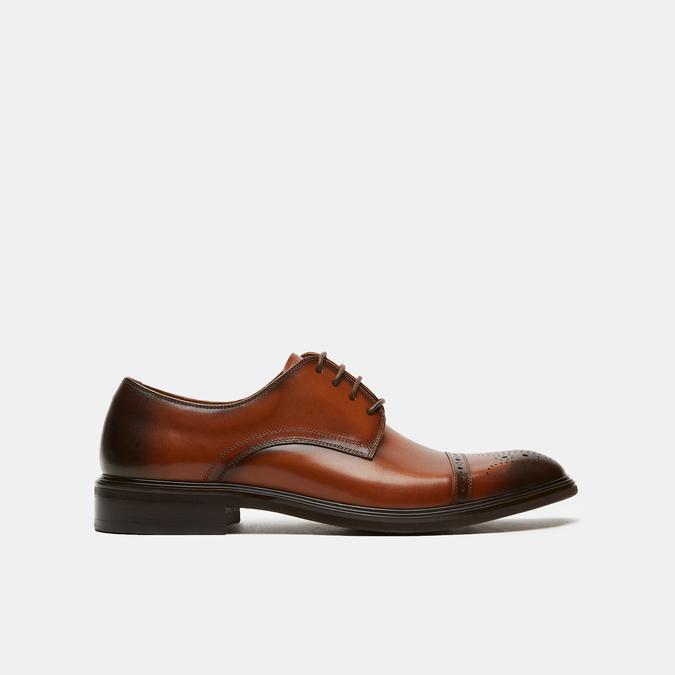 chaussures basses en cuir homme bata, Brun, 824-3172 - 13