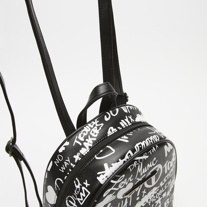 sac à dos imprimé femme bata, Noir, 961-6135 - 15