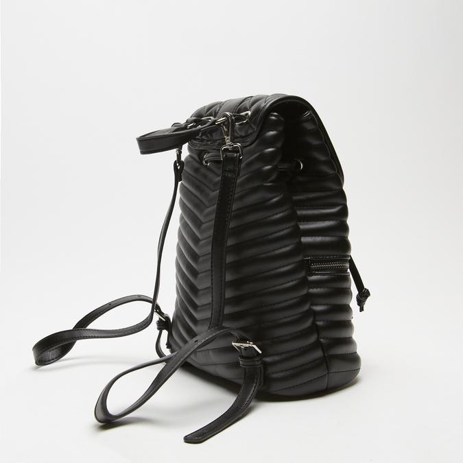 sac à dos à effet matelassé femme bata, Noir, 961-6520 - 16