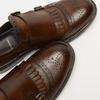 chaussures basses en cuir à boucle bata, Brun, 814-4133 - 17
