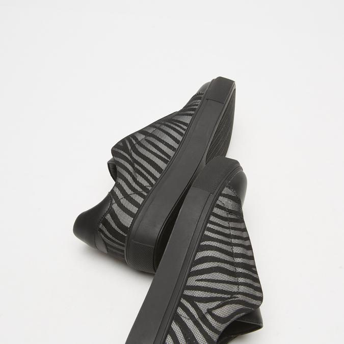 baskets à imprimé zèbre bata, Noir, 531-6142 - 17
