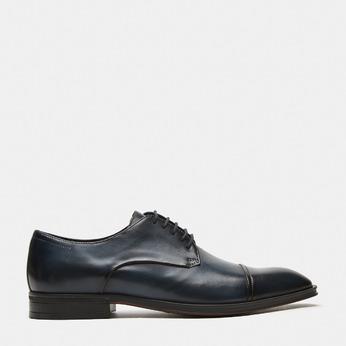 chaussures basses en cuir homme bata, Bleu, 824-9376 - 13