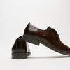 chaussures basses en cuir homme bata, Brun, 824-4376 - 15