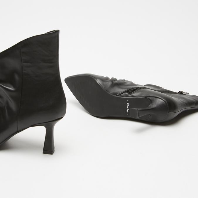 bottines en vrai cuir à effet ondulé bata, Noir, 794-6764 - 17