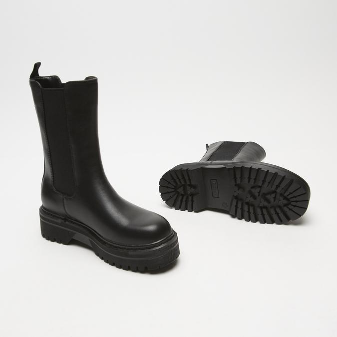 bottines chelsea à plateforme bata, Noir, 591-6489 - 19