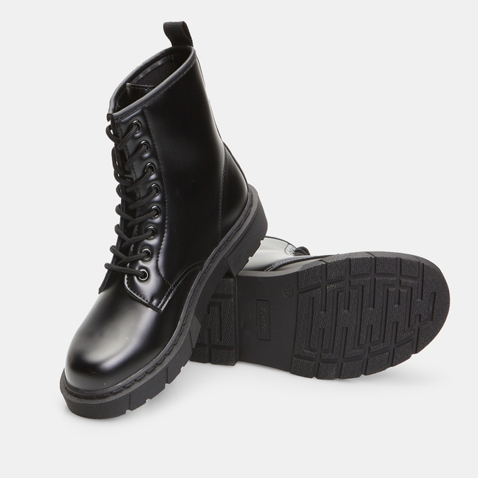 bottines à semelles style track femme bata, Noir, 591-6506 - 19