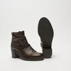 bottines en vrai cuir et à effet ondulé bata, Brun, 794-4753 - 19