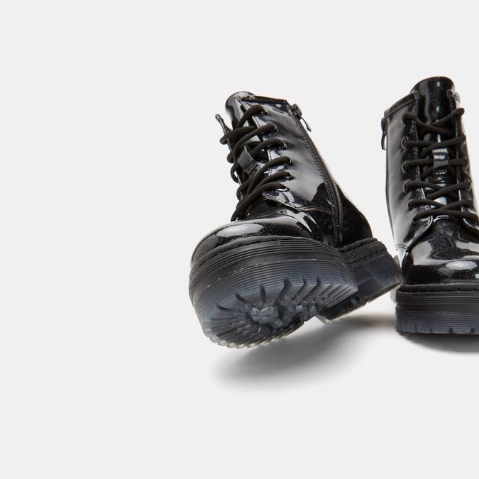 bottines à effet brillant et semelle track mini-b, Noir, 391-6180 - 17