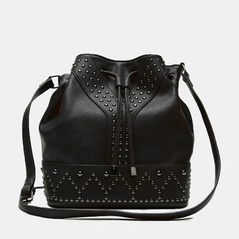 sac bucket clouté bata, Noir, 961-6149 - 13
