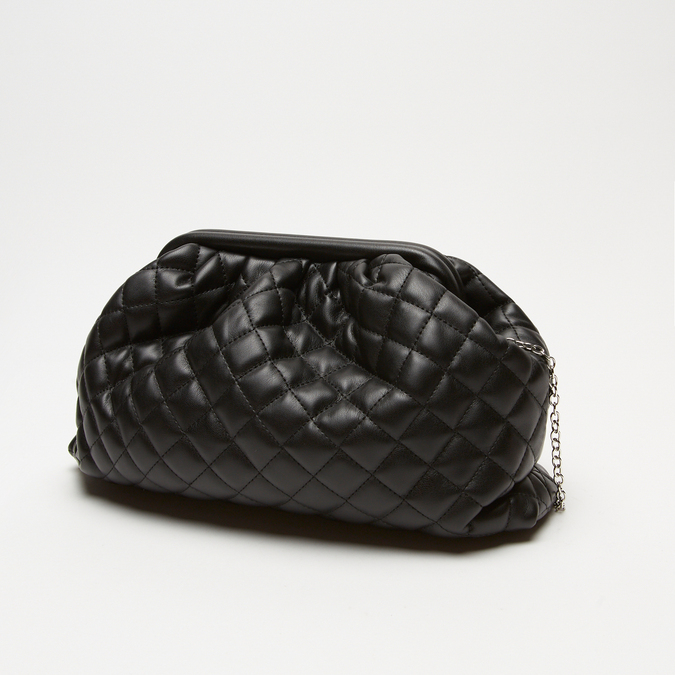 sac clutch à effet matelassé bata, Noir, 961-6342 - 17