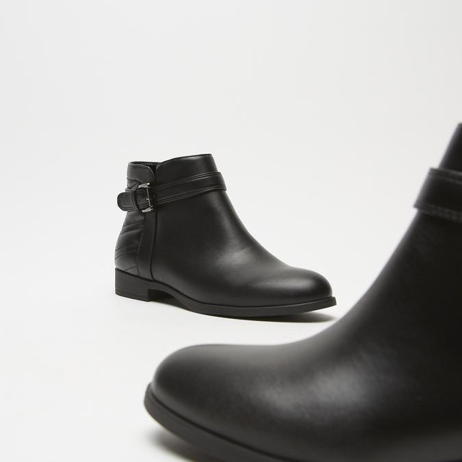 bottines à détails matelassés bata, Noir, 591-6205 - 19