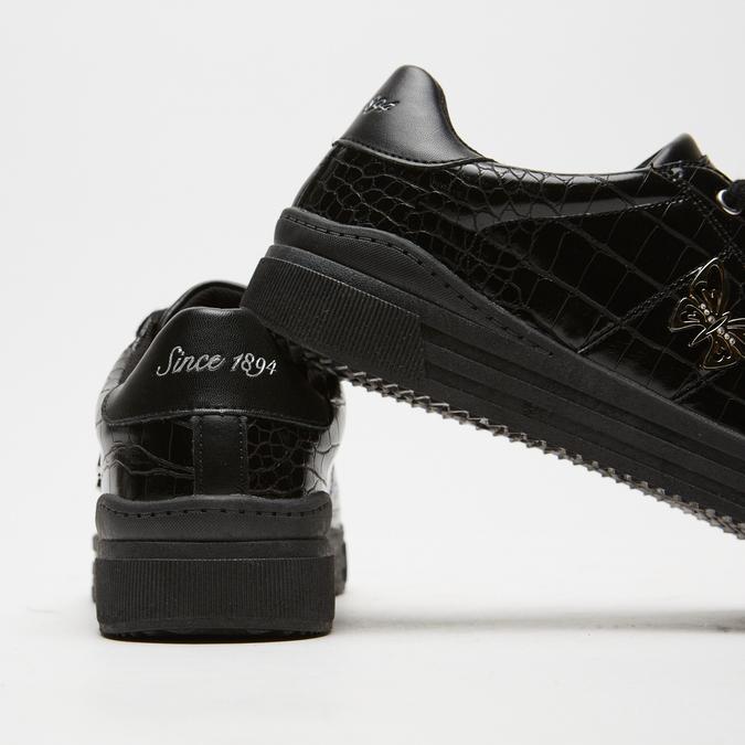 baskets avec imprimé crocodile bata, Noir, 541-6845 - 17