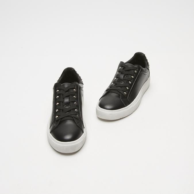 baskets en cuir à clous bata, Noir, 544-6426 - 26