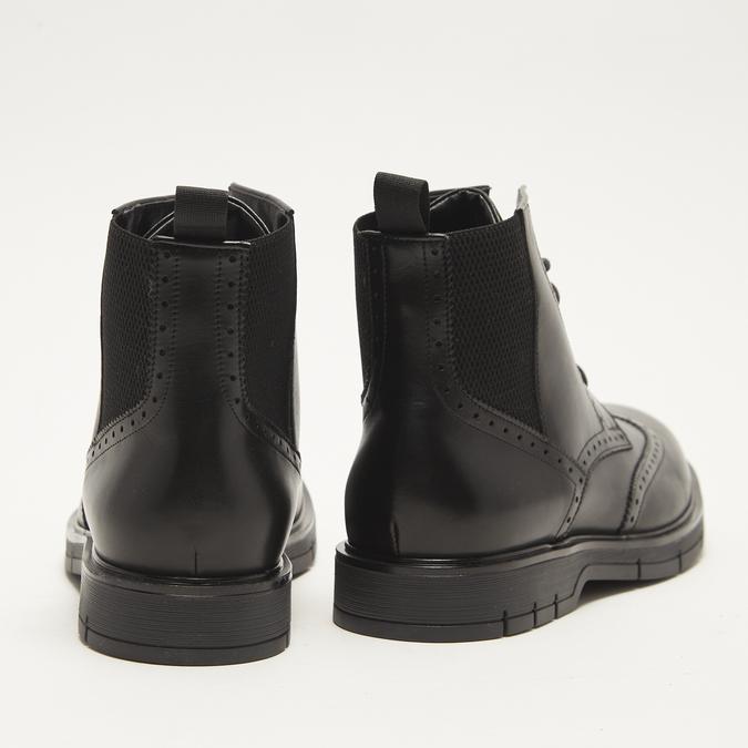 bottines brogue en cuir flexible, Noir, 894-6128 - 17