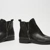 bottines en vrai cuir et à fermeture éclair latérale bata, Noir, 594-6428 - 26