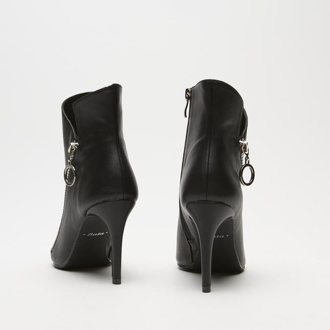 bottines à fermeture éclair latérale et talons aiguilles bata, Noir, 791-6168 - 17