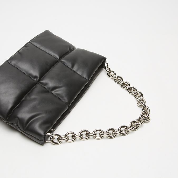 sac à main à effet matelassé bata, Noir, 961-6136 - 15